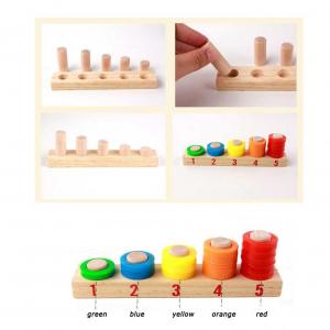 Joc multifuncțional din lemn de numărare și tabliță cu două fețe [3]