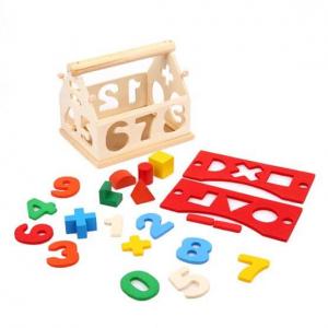 Căsuță din lemn cu forme geometrice și cifre [2]