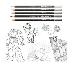 creioane grafit Negru [2]