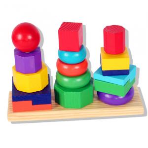 Turn tip Montessori din lemn cu 3 coloane [1]