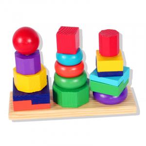 Turn tip Montessori din lemn cu 3 coloane [6]