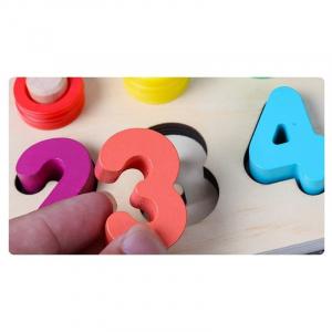 Tablă tip Montessori 3 în 1: Cifre, Forme geometrice și Numărătoare [5]