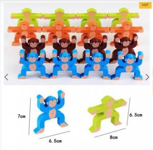Joc din lemn Montessori de echilibru - Maimuțele [4]