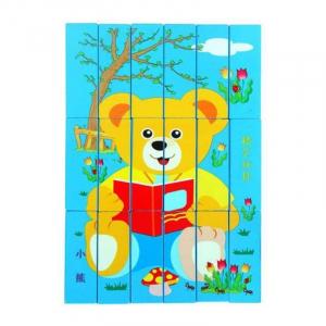 Joc Educativ 2 in 1 din lemn - Jenga si Puzzle [2]