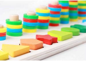 Joc din lemn tip Montessori Plansetă sortatoare [0]