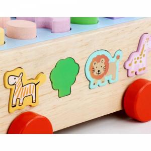 Jucărie din lemn - sortator numere, forme, animale [3]