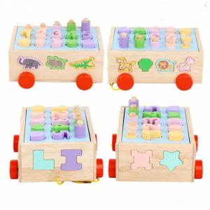 Jucărie din lemn - sortator numere, forme, animale [4]