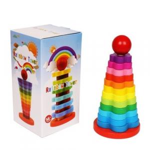 Turn stivuire din lemn tip Montessori 13 piese [1]
