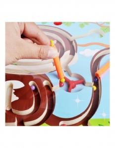 Labirint magnetic din lemn cu animale [3]