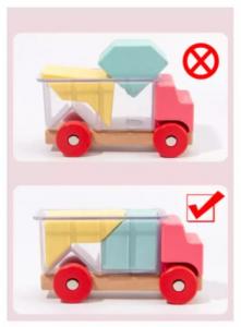 Masinute din lemn cu puzzle [5]