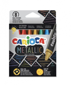 Creioane cerate Metallic Set 8 culori [0]