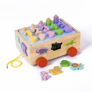 Jucărie din lemn - sortator numere, forme, animale [0]