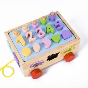 Jucărie din lemn - sortator numere, forme, animale [1]