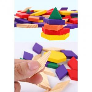 Puzzle Tangram din lemn 250 piese [1]