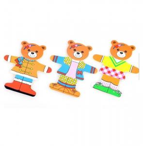 Puzzle din lemn Îmbracă Ursuleții [2]