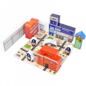 Puzzle și cuburi din lemn – Poliția [0]