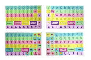 Tablă magnetică educativă din lemn cu litere și cifre [1]