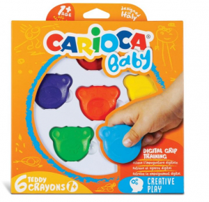 creioane cerate si colorate - Teddy - Carioca Baby 1an+ Ursuleti [0]