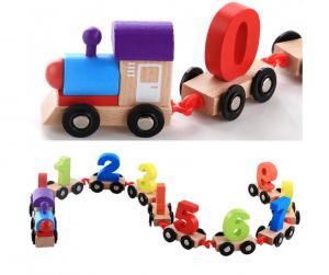 Trenulet din lemn cu 10 vagoane - Cifre [4]