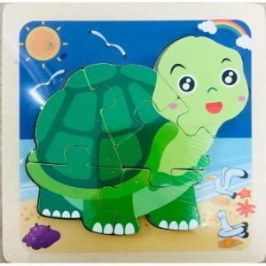Puzzle din lemn 3D Broscuța țestoasă [0]