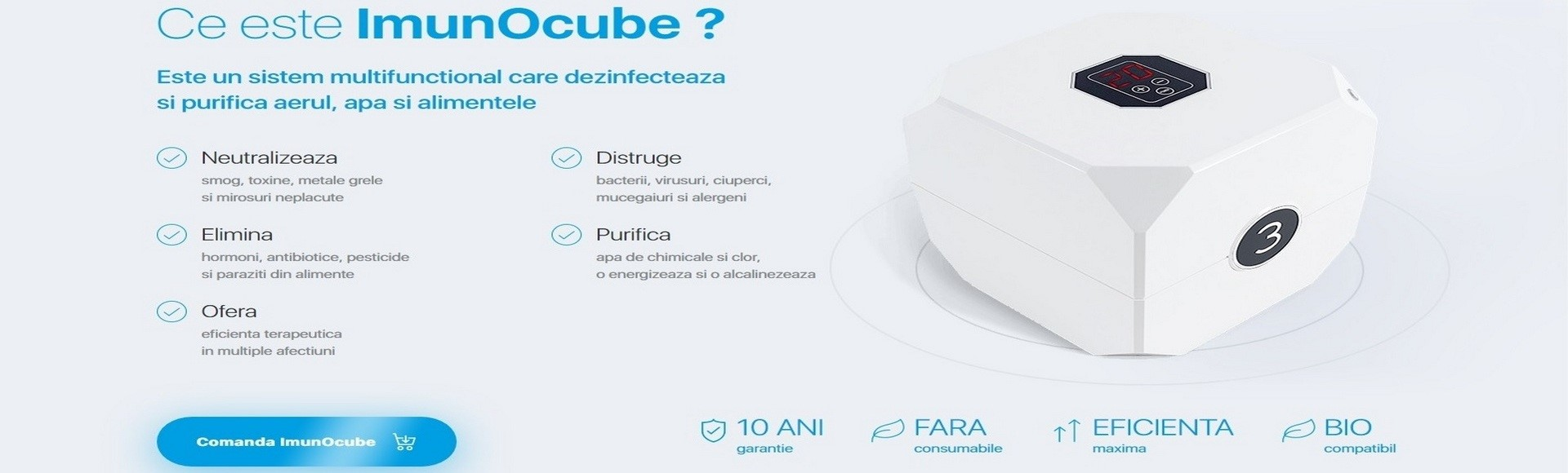 ImunOcube - Purificator molecular multifunctional