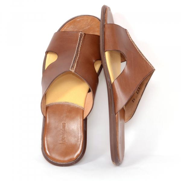Papuci barbati 332 Cuoio 2