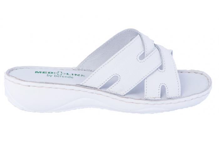 Papuci confortabili dama 472 Alb 0