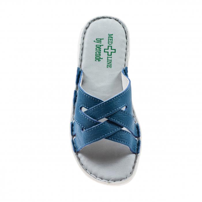 Papuci confortabili dama 472 Albastru 2