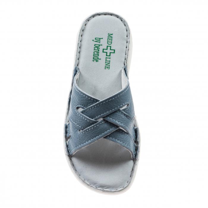 Papuci confortabili dama 472 Blu Sky 2