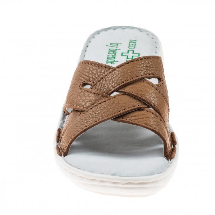 Papuci confortabili dama 472 Cappuccino 1