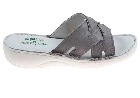 Papuci confortabili dama 472 Grey 0