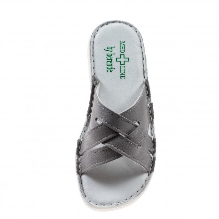 Papuci confortabili dama 472 Grey 3
