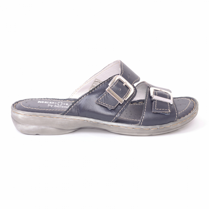 Papuci din piele naturala Medline, 403 Bleumarin [1]