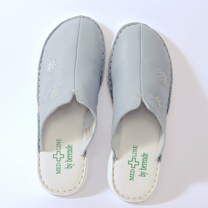 Papuci piele naturala Medline, Zinc 298 [1]