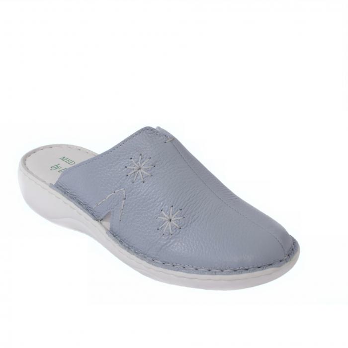 Papuci piele naturala Medline, Zinc 298 [0]