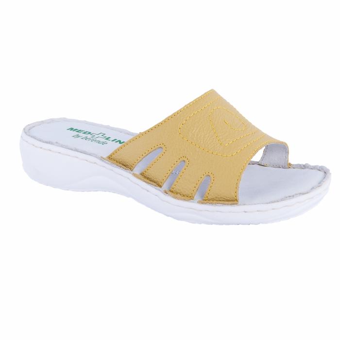 Papuci confortabili dama, Medline, Galben 137 0