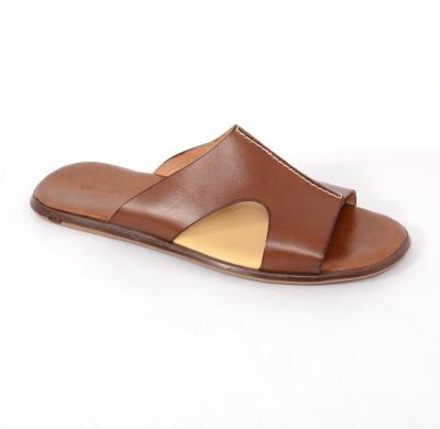 Papuci barbati 332 Cuoio0