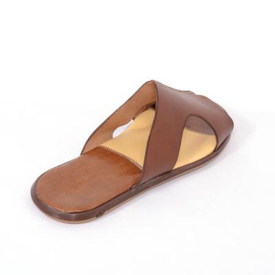 Papuci barbati 332 Cuoio1