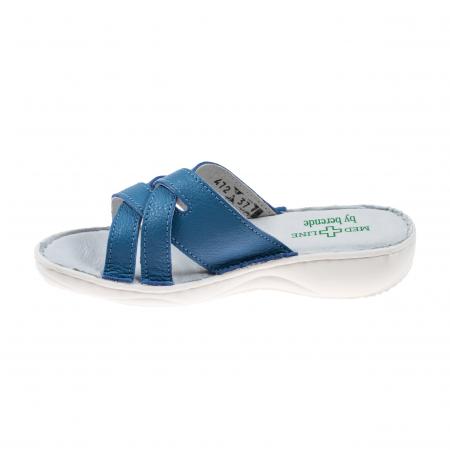 Papuci confortabili dama 472 Albastru3
