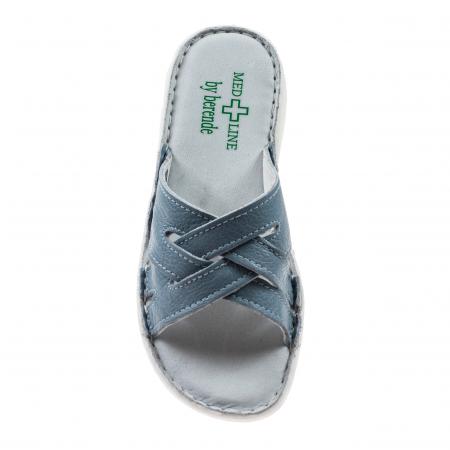 Papuci confortabili dama 472 Blu Sky2