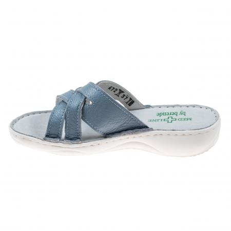 Papuci confortabili dama 472 Blu Sky3