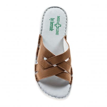 Papuci confortabili dama 472 Cappuccino2