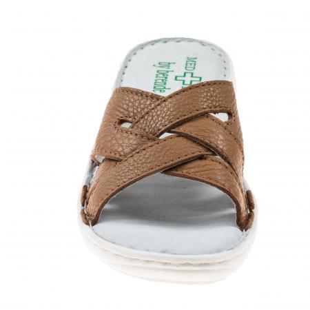 Papuci confortabili dama 472 Cappuccino1
