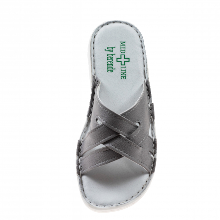 Papuci confortabili dama 472 Grey3