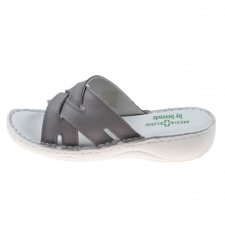 Papuci confortabili dama 472 Grey2