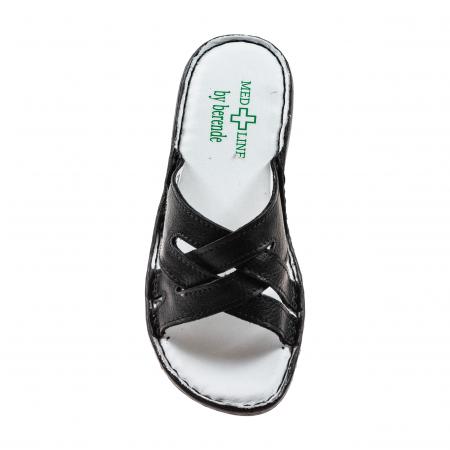 Papuci confortabili dama 472 Negru2