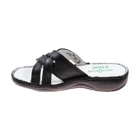 Papuci confortabili dama 472 Negru3