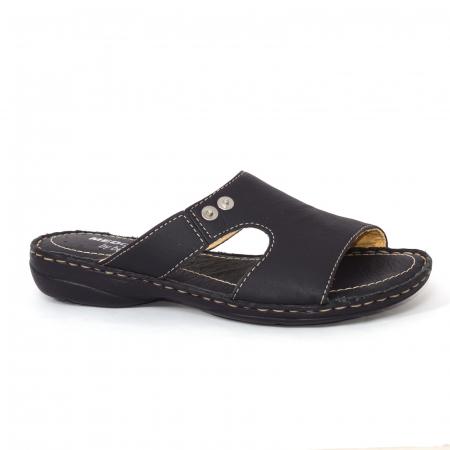 Papuci din piele naturala Medline, 400 Negru [1]