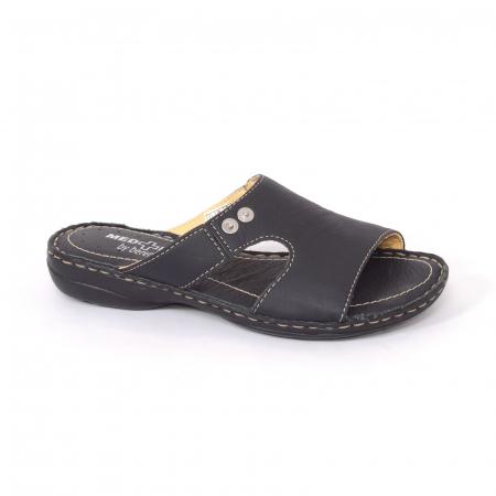 Papuci din piele naturala Medline, 400 Negru [0]