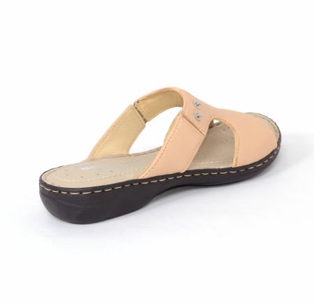 Papuci din piele naturala Medline, 400 Bej [1]